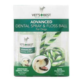 Slika Vet's Best Advanced Dental pršilo 120, mL + zobna nitka (igrača), 1 komplet