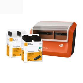 Slika Wero Smart Box BlackPower dozirnik obližev z ekstra močnimi tekstilnimi obliži, 1 kos + 70 obližev