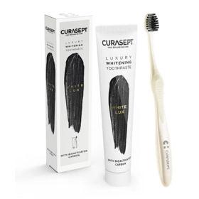 Slika Curasept White Lux zobna pasta in zobna ščetka za beljenje zob, 1 set