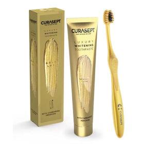 Slika Curasept Gold Lux zobna pasta in zobna ščetka za beljenje zob, 1 set