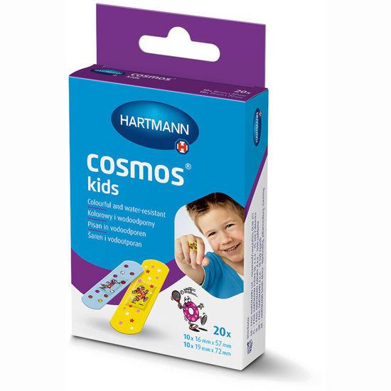 Hartmann Cosmos Kids obliž z barvnimi motivi, 20 kosov