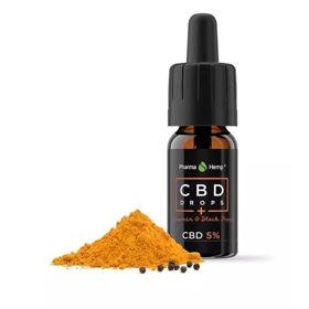 Slika Pharma Hemp CBD kapljice s kurkuminom in črnim poprom 5 %, 10 mL