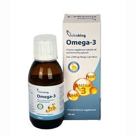 Slika VitaKing omega 3 ribje olje z  okusom limone 2500 mg, 150 mL