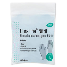 Slika Wero DuraLine nitrilne rokavice brez pudra, 4 rokavice