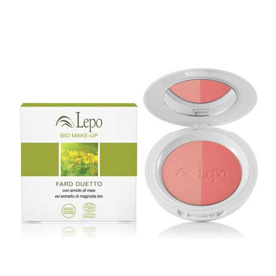 Lepo Duo Color Blusher rdečilo za lica z ekološkim koruznim škrobom in izvlečkom magnolije, 9 g