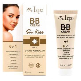 Slika Lepo Sun Kiss BB krema za obraz ZF 15 s hialuronsko kislino, arganovim oljem, karitejevim maslom, 50 mL