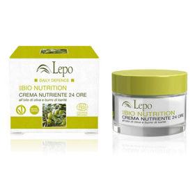 Slika Lepo EcoBio hranilna krema 24-urna za obraz z oljčnim oljem in karitejevim maslom, 50 mL