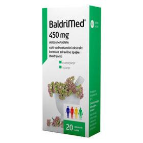 Slika BaldriMed 450 mg, 20 obloženih tablet
