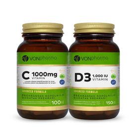 Slika VONPHARMA PAKET - vitamin C 1.000 mg + vitamin D3 1.000 I.E., 1 set